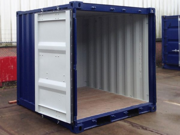 8ft container open
