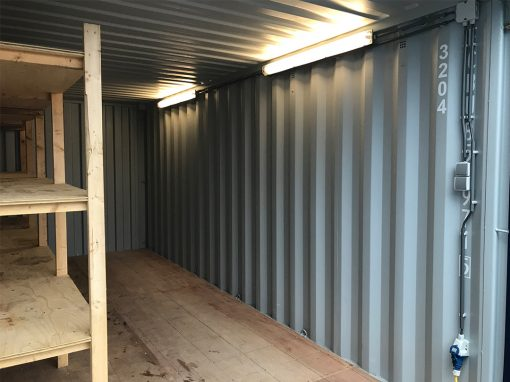 20ft container elektra en stelling