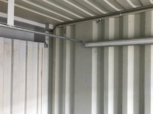 lengte-box container binnen