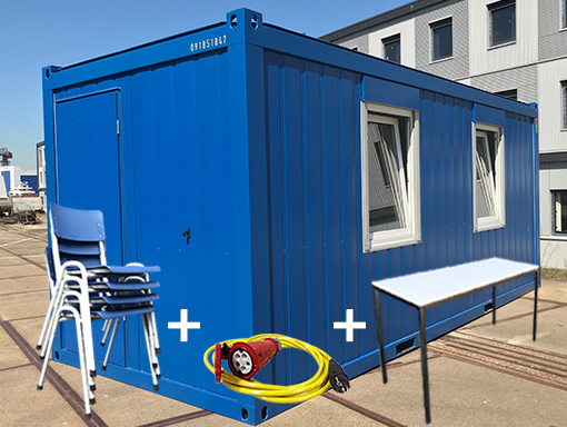 20ft accommodatie unit met toebehoren