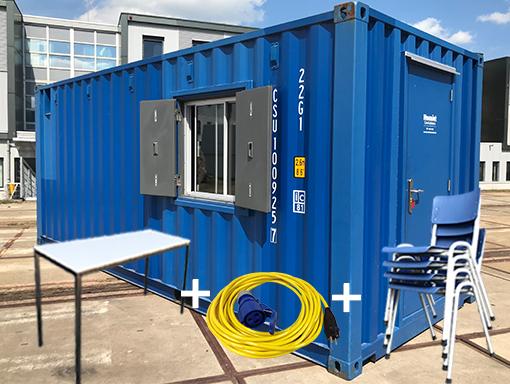 20ft combi-container met toebehoren